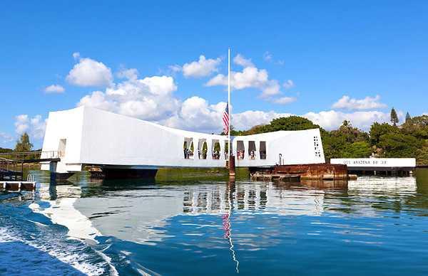 U.S.S. Arizona Memorial in Pearl Harbor, Hawaii, In America
